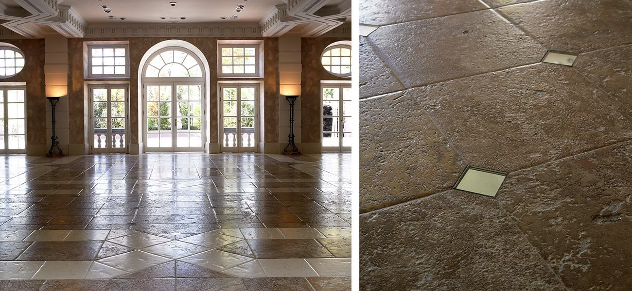 Decoración clásica con Travertino - classic decoration with Travertine