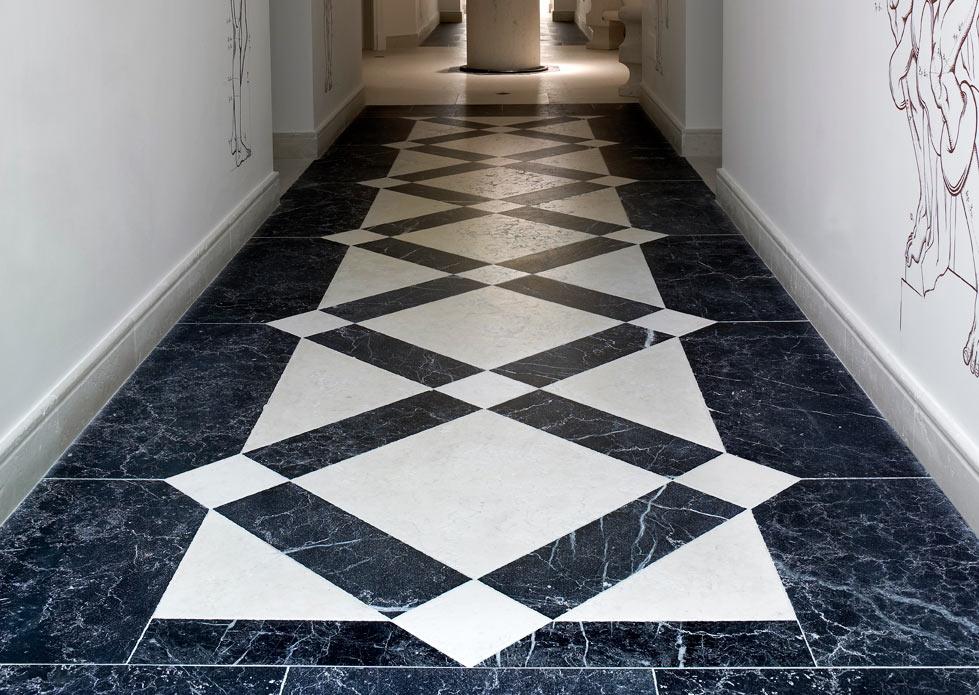 Marquina Black Marble carpet - Alfombra de Negro Marquina - Villa Padierna