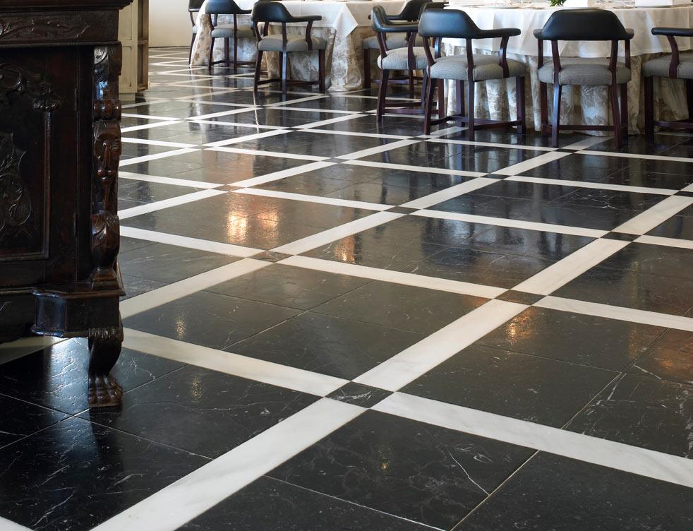 Mármol Negro - Marquina - Black marble - Floor - Suelo - Black and white