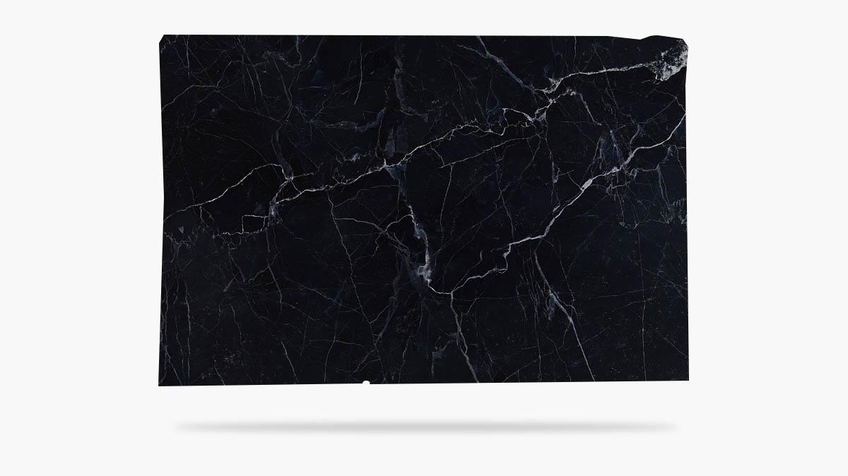 Tabla de mármol Negro Marquina - Marquina Black marble slab