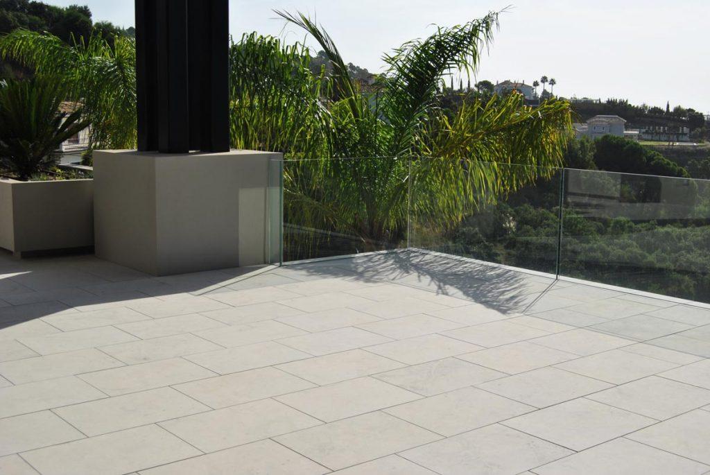 Terraza de piedra caliza gris - suelo - Twilight Grey - Grey limestone terrace - floor