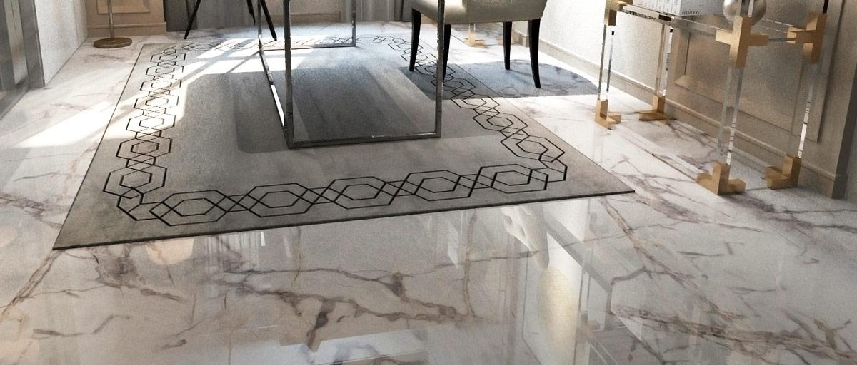 Suelo de mármol Gris Picasso - Picasso Grey Marble floor