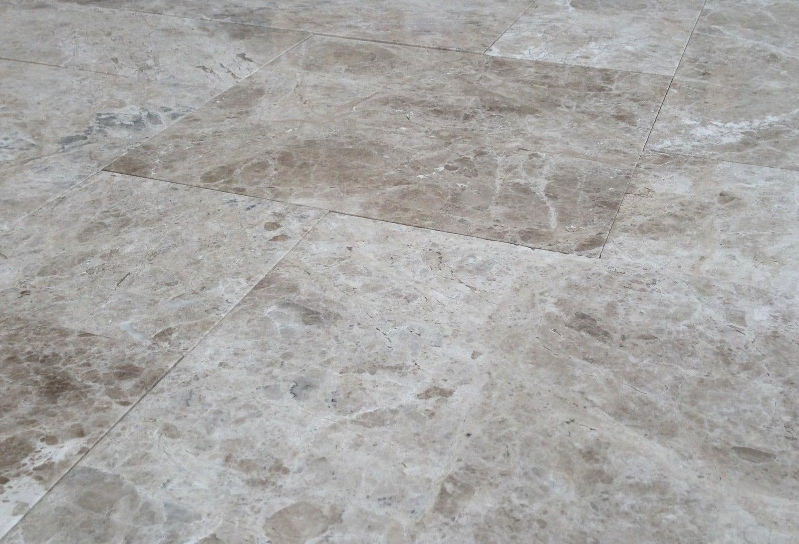 Pacific Grey marble floor - Suelo de mármol Gris Pacífico