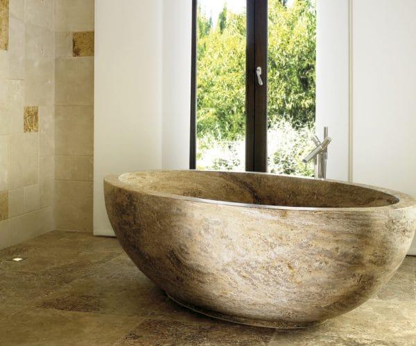 Bañera de Travertino - Domus - Travertine bathtub