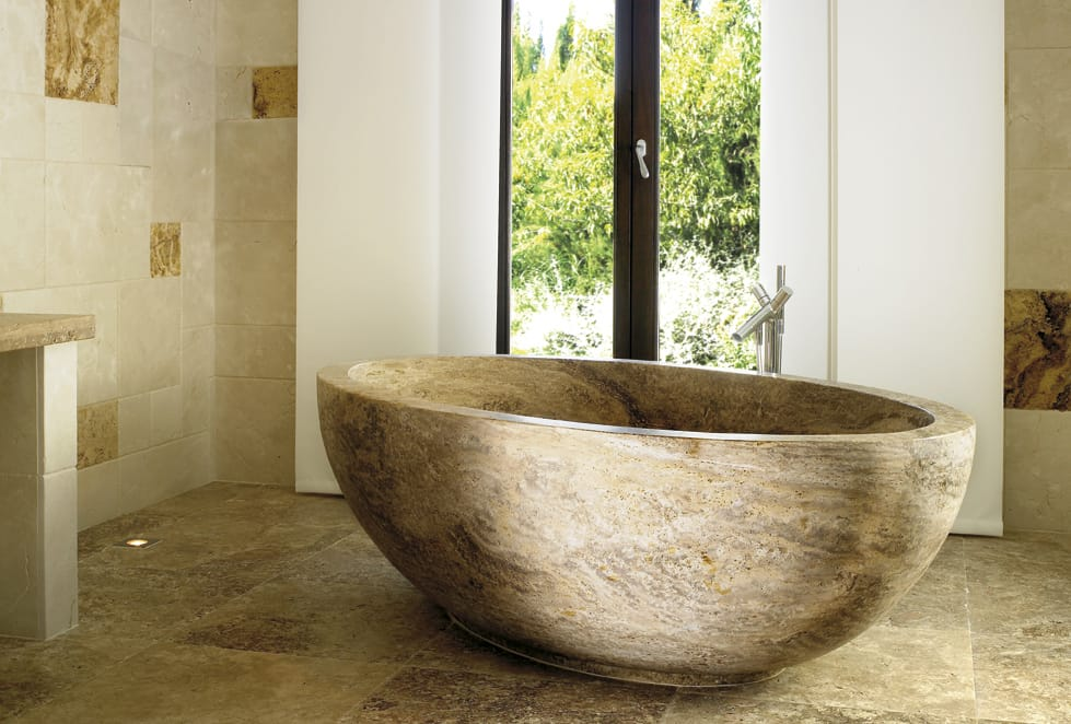 Bañera de Travertino - Domus - Travertine bathtub