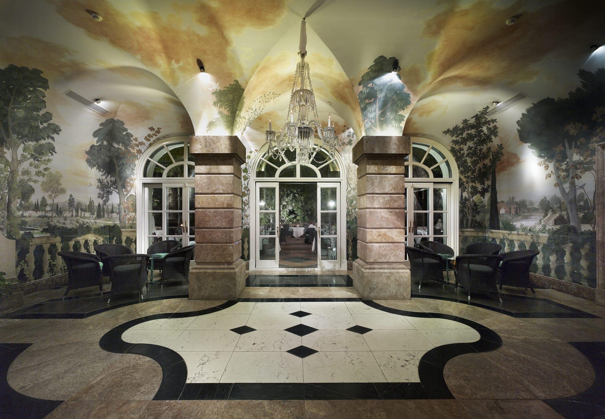 Mosaicos de mármol - Salones Villa Padierna Palace hotel - Marble mosaics