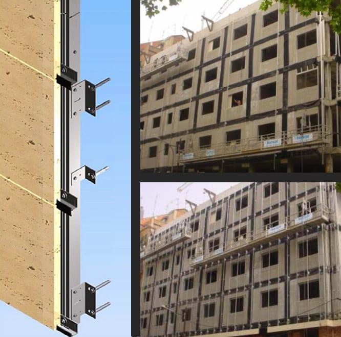 Montaje de placas en fachadas ventiladas de piedra natural