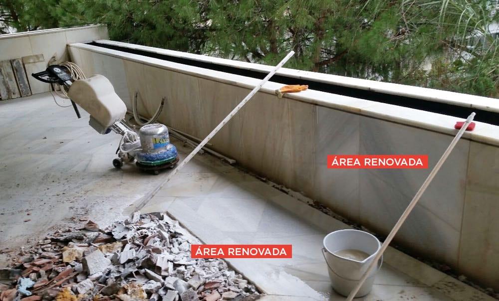 Renovación de mármol exterior