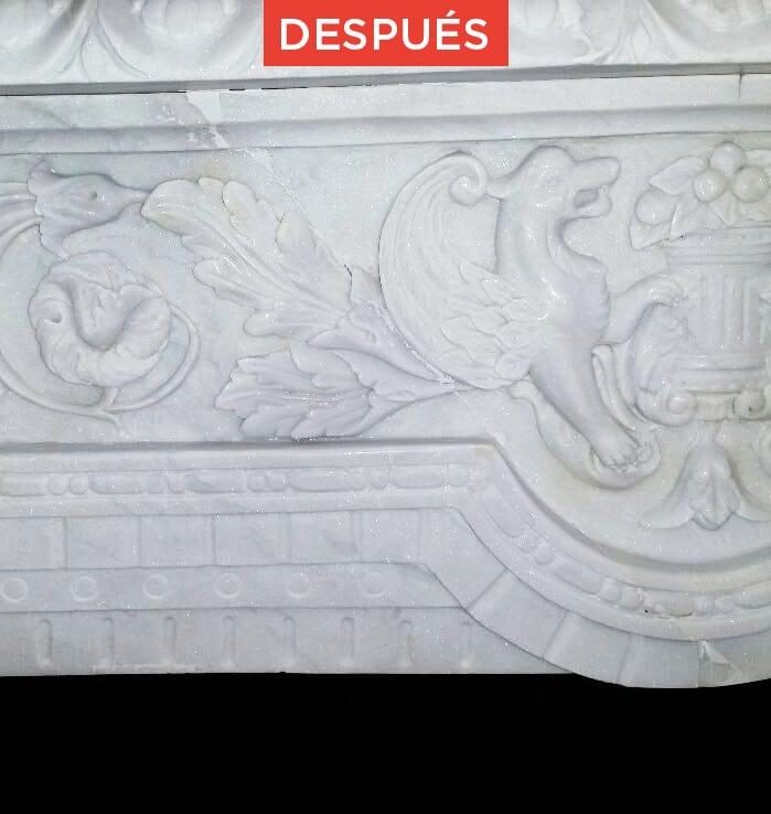 Restauración de mármol roto resultado