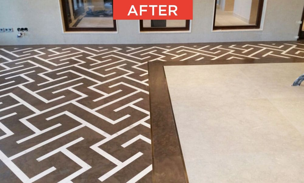 Commissioning of marble and natural stone after