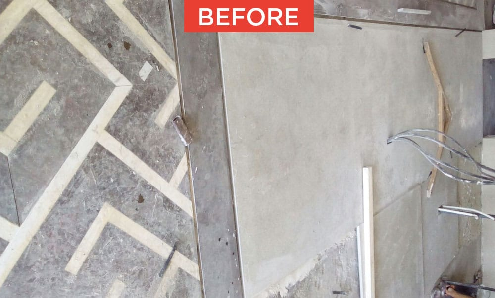 Commissioning of marble and natural stone before