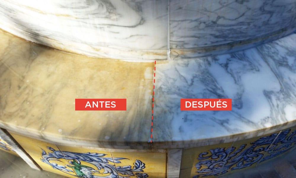 Restauración de mármol blanco