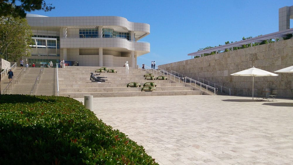 Suelos Travertino en el Getty Center - Travertine outdoor flooring Getty Center