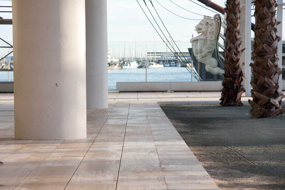 Travertino en exteriores - Outdoor travertine