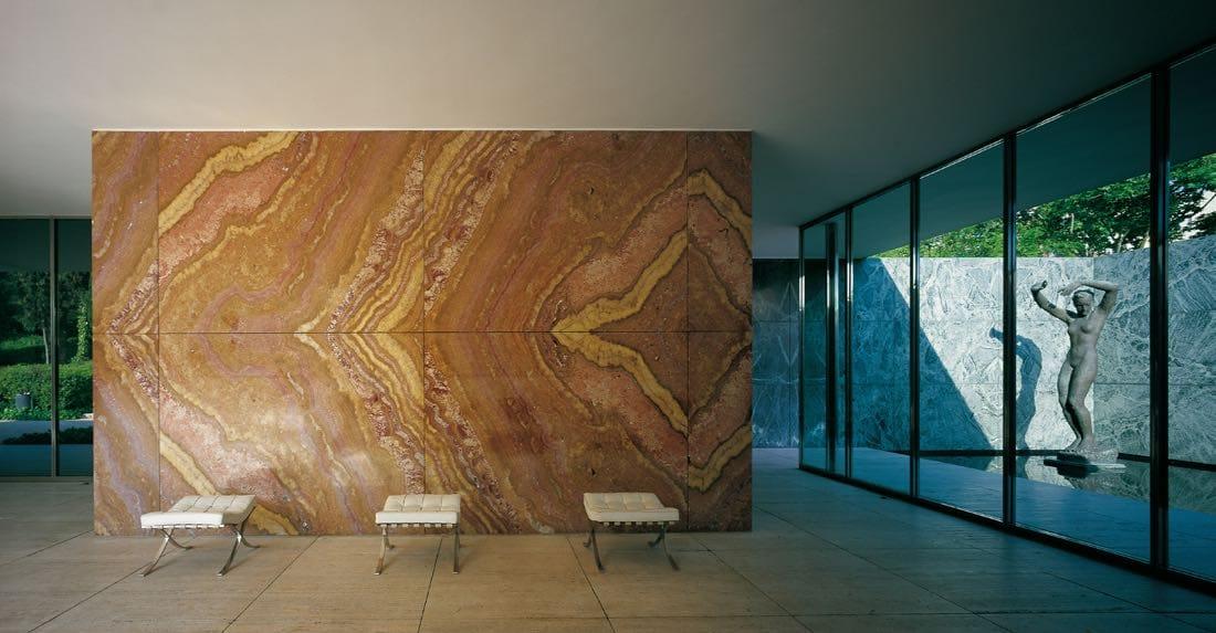 Pared de Ónix - Onyx Wall - Mies Van der Rohe