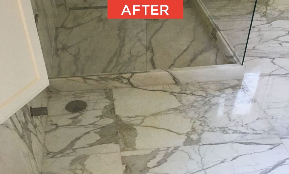 Recovery of marble and natural stone after
