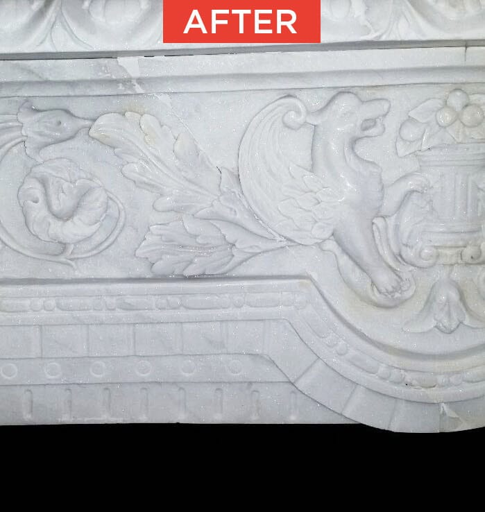 Restoration of marble or natural stone after