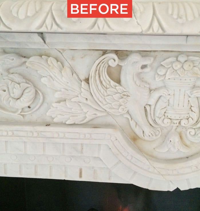 Restoration of marble or natural stone before