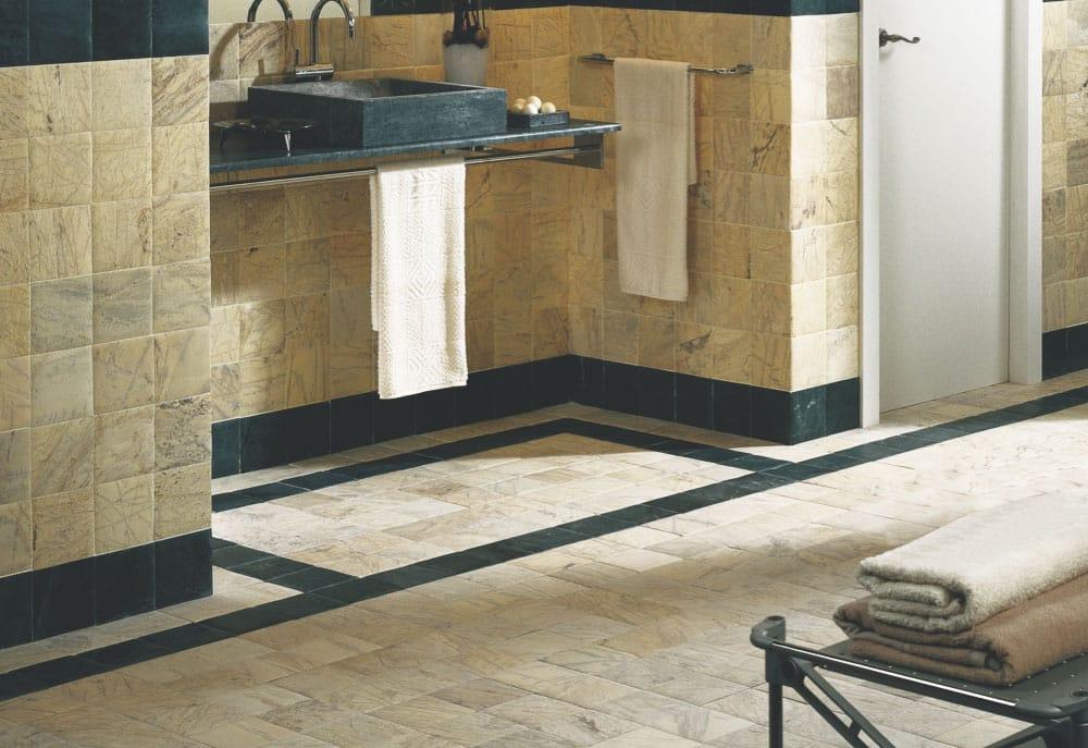 Yellow and green marble floor - Suelo de mármol amarillo y verde