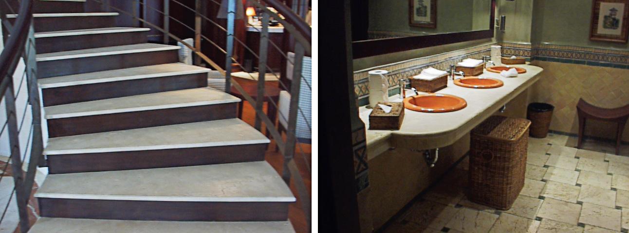 Escalera y Baño hotel almenara