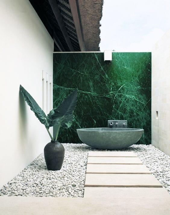 Pared de mármol Verde Guatemala - Guatemala Green marble wall