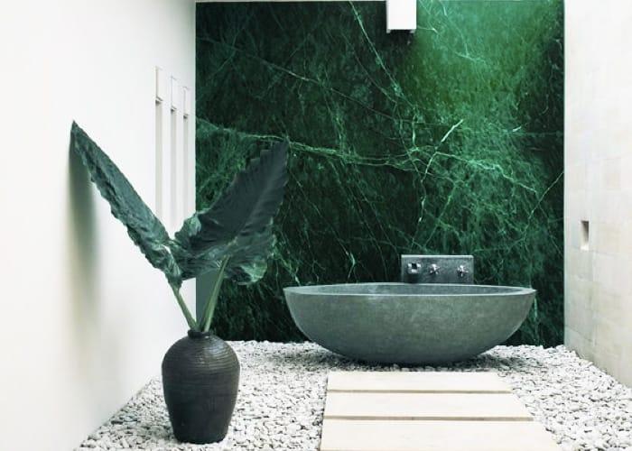 Pared de mármol Verde Guatemala - Guatemala Green marble wall 2