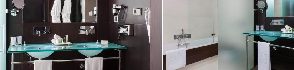 Baño de mármol marrón - NH Obradoriro - Brown marble bathroom