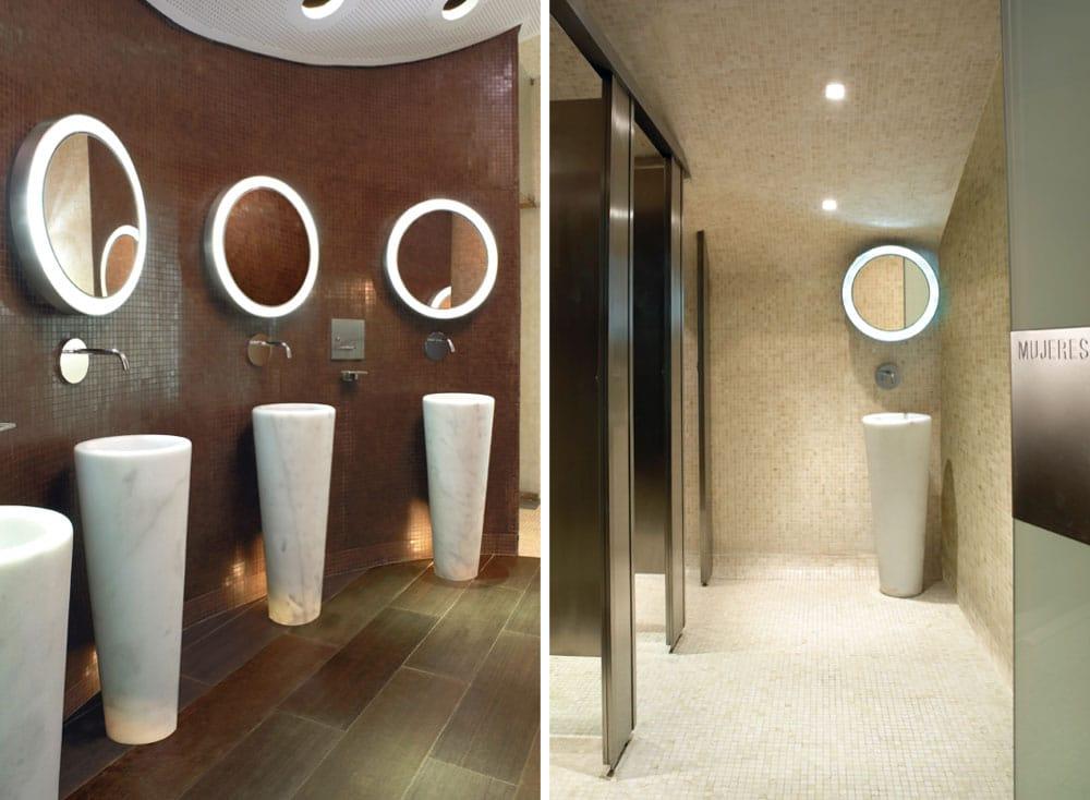 Lavabos escultóricos de mármol - Bernabéu - Marble sculptural washbasins