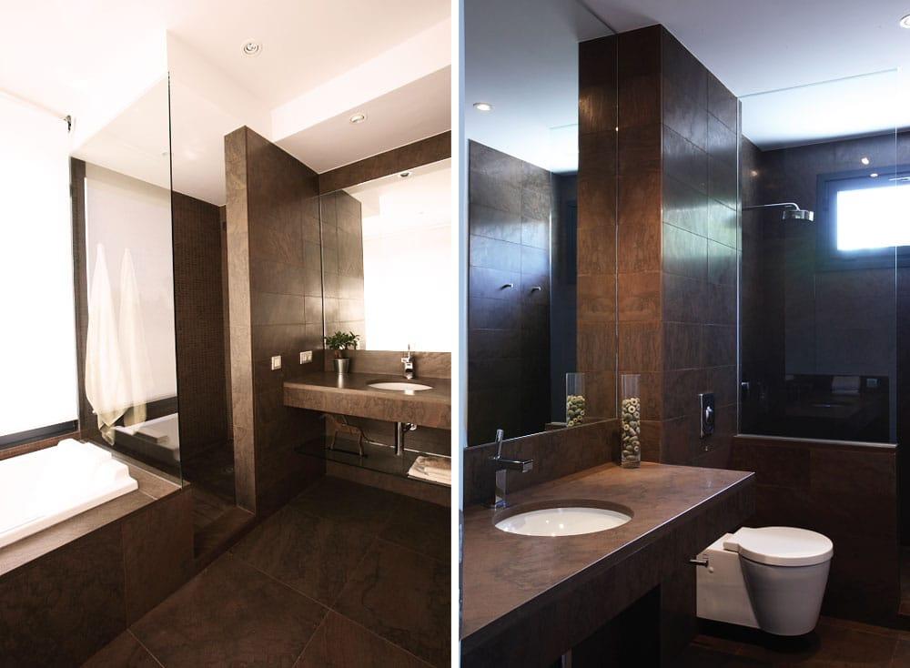 Baño de mármol Kafe - La Moraleja - Kafe marble bathroom