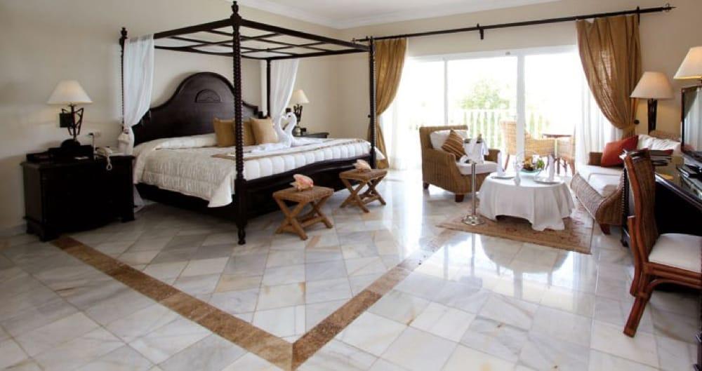 Blanco Macael White- Travertino Classico - Travertine Classic - Bahia Principe Cayo Levantado Room