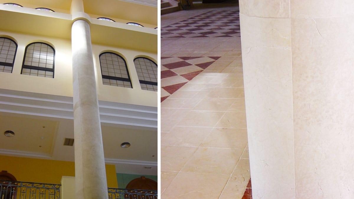 Columna de mármol - Beatriz Palace - Marble column