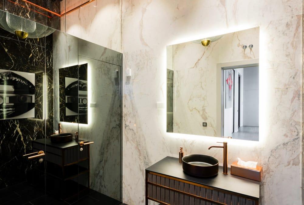 Ducha de mármol Saint Laurent - Saint Laurent marble shower