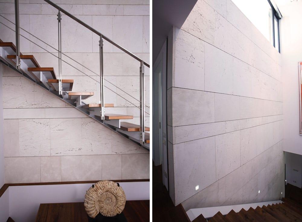 Pared interior de travertino - La Moraleja - Interior travertine wall