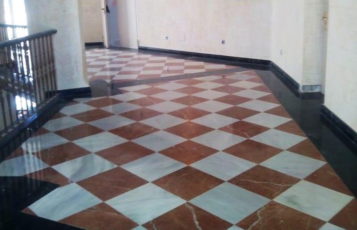 Recuperacion mosaico Rojo Alicante y Negro Marquina - Alicante Red and Marquina Black marble mosaic recovery 2