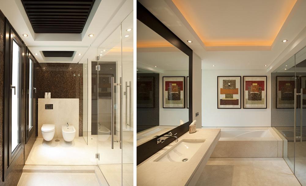 Baño de mármol Crema Premium - La Zagaleta Marbella - Premium Beige marble bathroom