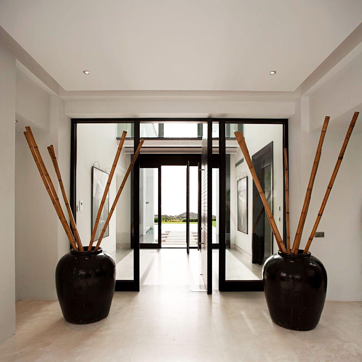 Vestíbulo de mármol Crema Premium - La Zagaleta Marbella - Premium Beige marble foyer