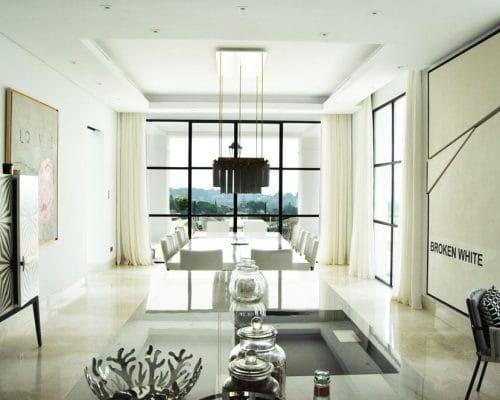 Cocina - Comedor- Mármol Crema Premium - Premium Beige marble - Kitchen - Dinning room