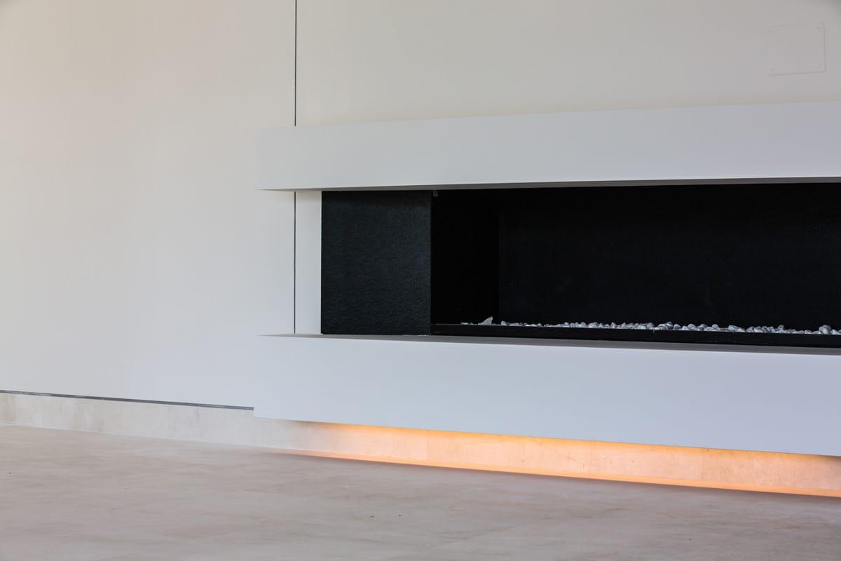 Chimenea de mármol Crema Premium - Premium Beige marble fireplace