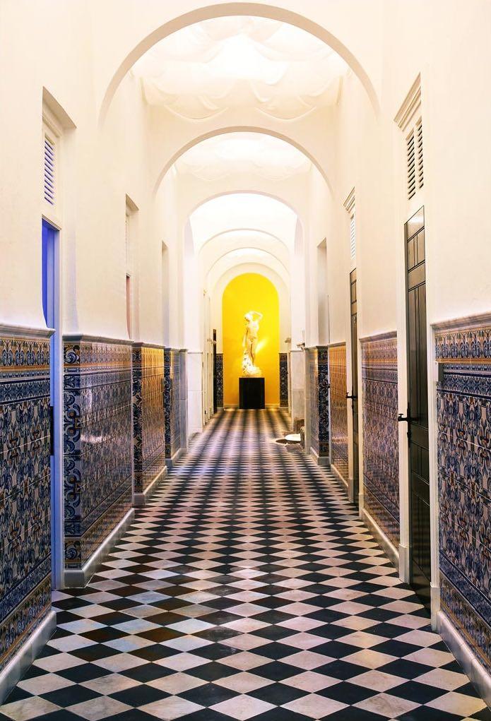 Blanco Perlino White - Negro Marquina Black - Carratraca - suelo ajedrezado de mármol - Marble chess floor
