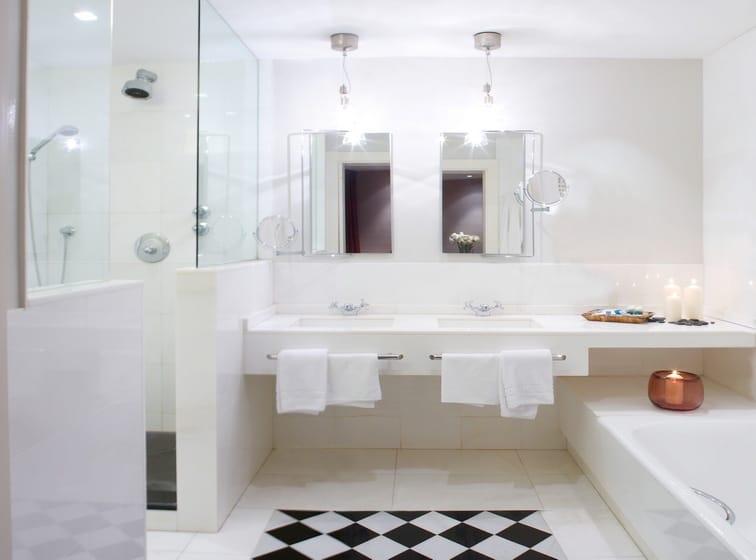 Hotel Ercilla Bilbao - suelo ajedrezado de mármol - Chess marble floor 2