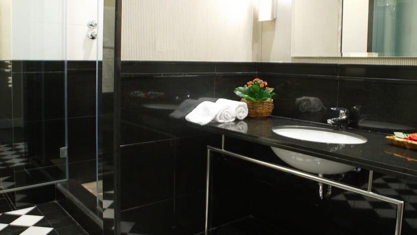 Hotel Ercilla Bilbao - suelo ajedrezado de mármol - Chess marble floor