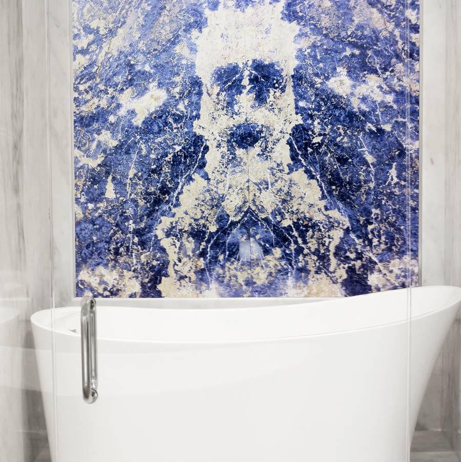 Pared destacada de Sodalita Azul - Blue Sodalite outstanding marble wall