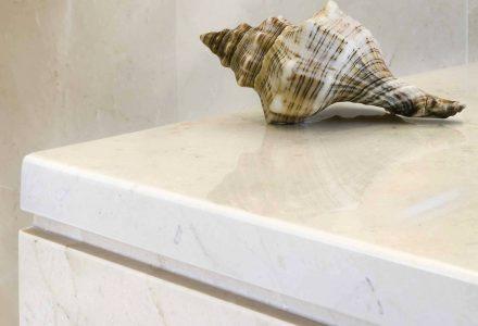 Acabado pulido de mármol y piedra natural
