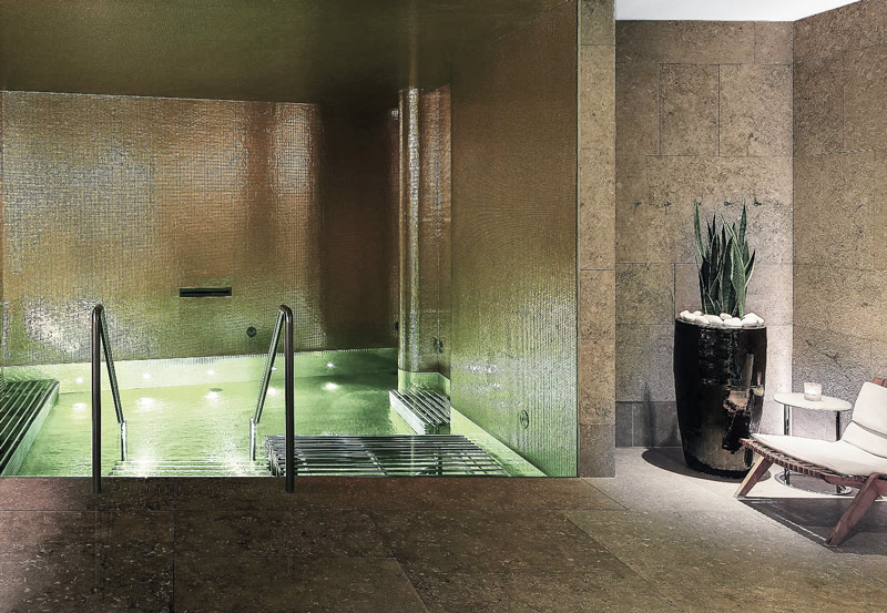 Spa de piedra caliza Gris Osiris - Bulgari Hotel London -Osiris Grey limestone spa