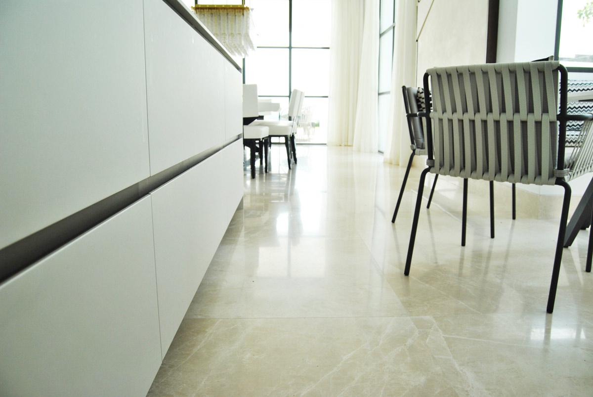 Premium Beige marble floor - Marbella VI - Suelo mármol Crema Premium