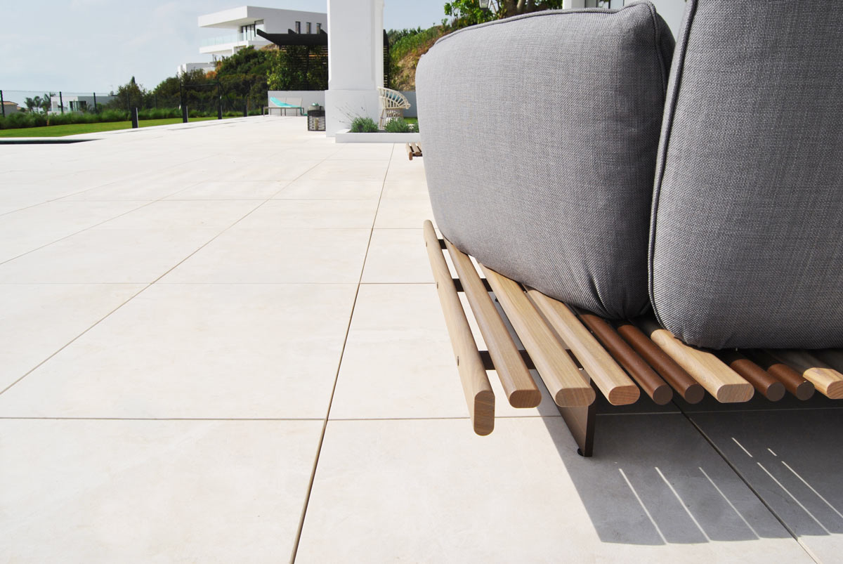 Terraza de mármol Crema Premium - Marbella VI - Premium Beige marble terrace