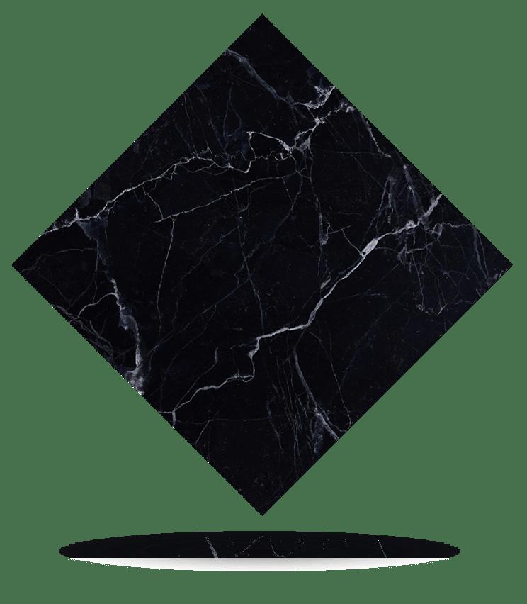 Muestra - Mármol Negro Marquina Black Marble - Sample