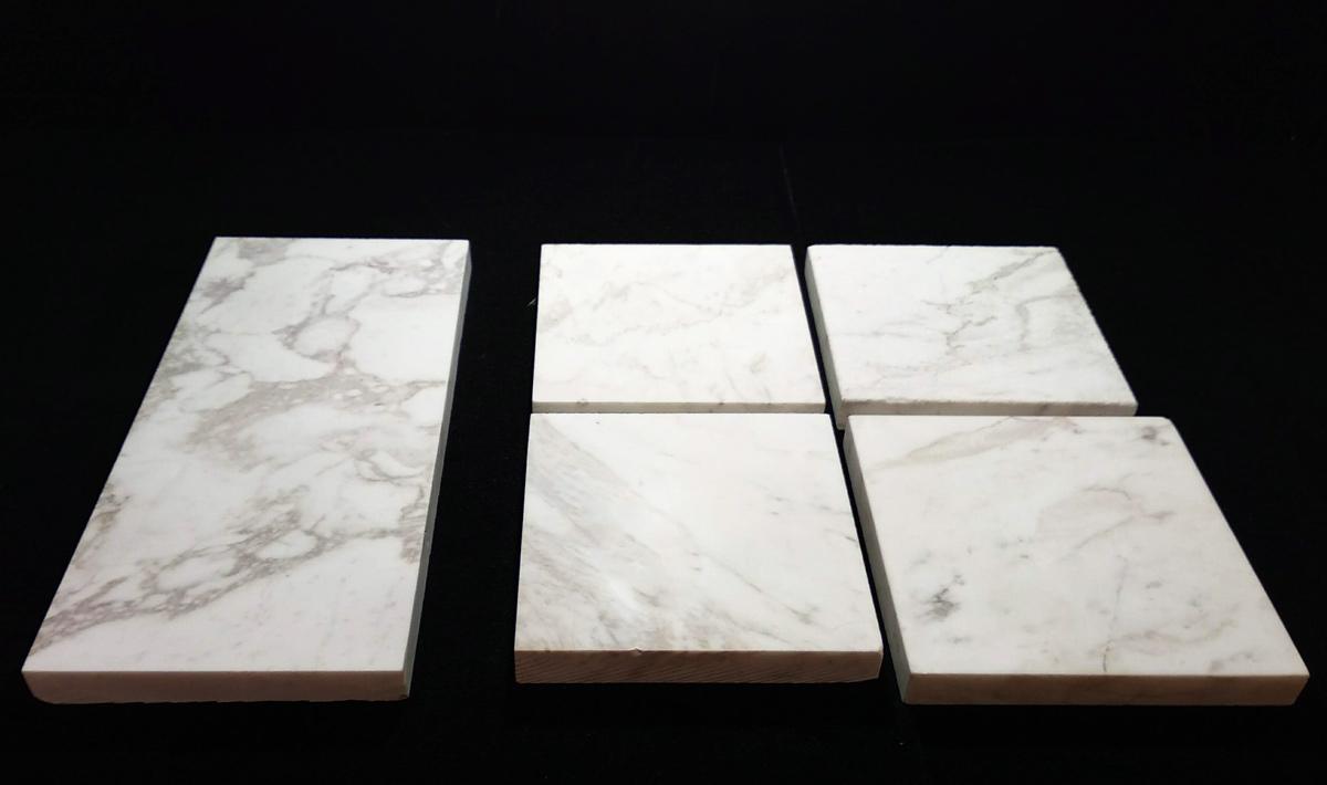 Muestras de mármol blanco - White marble samples