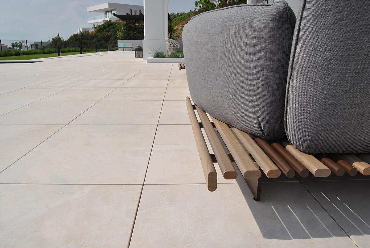 Acabado ZERO antideslizante mármol Crema Premium - ZERO anti-slip Premium Beige marble finish