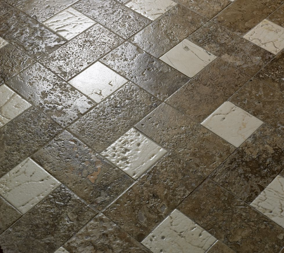 Suelo arlequinado de mármol - Beatriz Palace Fuengirola Hotel - Harlequin marble floor